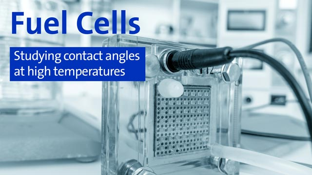 Fuel Cells - Studying contact angles at high temperatures
