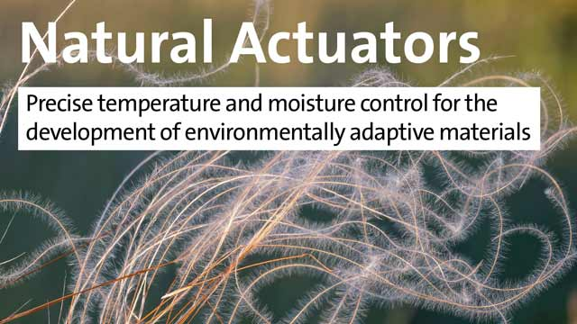 Natural Actuators - Precise temperature and moisture control for the development of environmentally adaptive materials