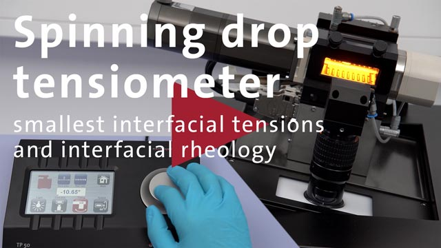 Applikations-Video: Spinning Drop Tensiometer