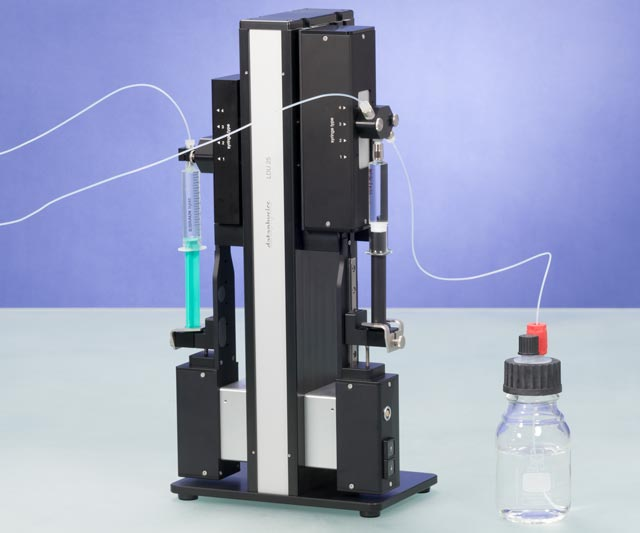 LDU 25 with two ESr-LDU, one syringe holder SH-LDU and one refill and rinse system RRS 25