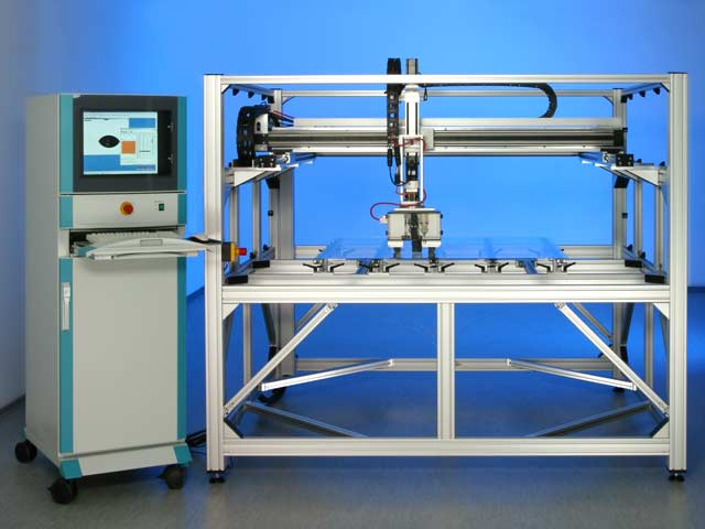 PCA 100R/2 with 3 axes positioning system and rotary axis