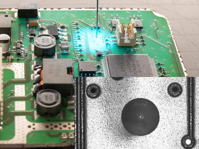 Topview measurement with the TVS-C on a printed circuit board